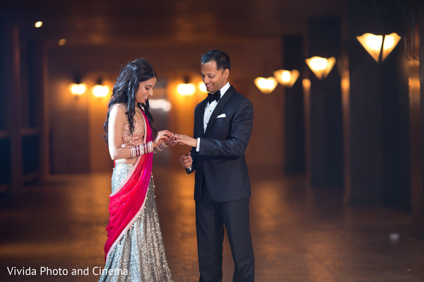 Reception Portrait in Playa del Carmen, Mexico Indian Destination Wedding by Vivida Photo & Cinema