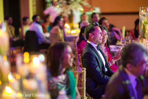 Reception in Playa del Carmen, Mexico Indian Destination Wedding by Vivida Photo & Cinema