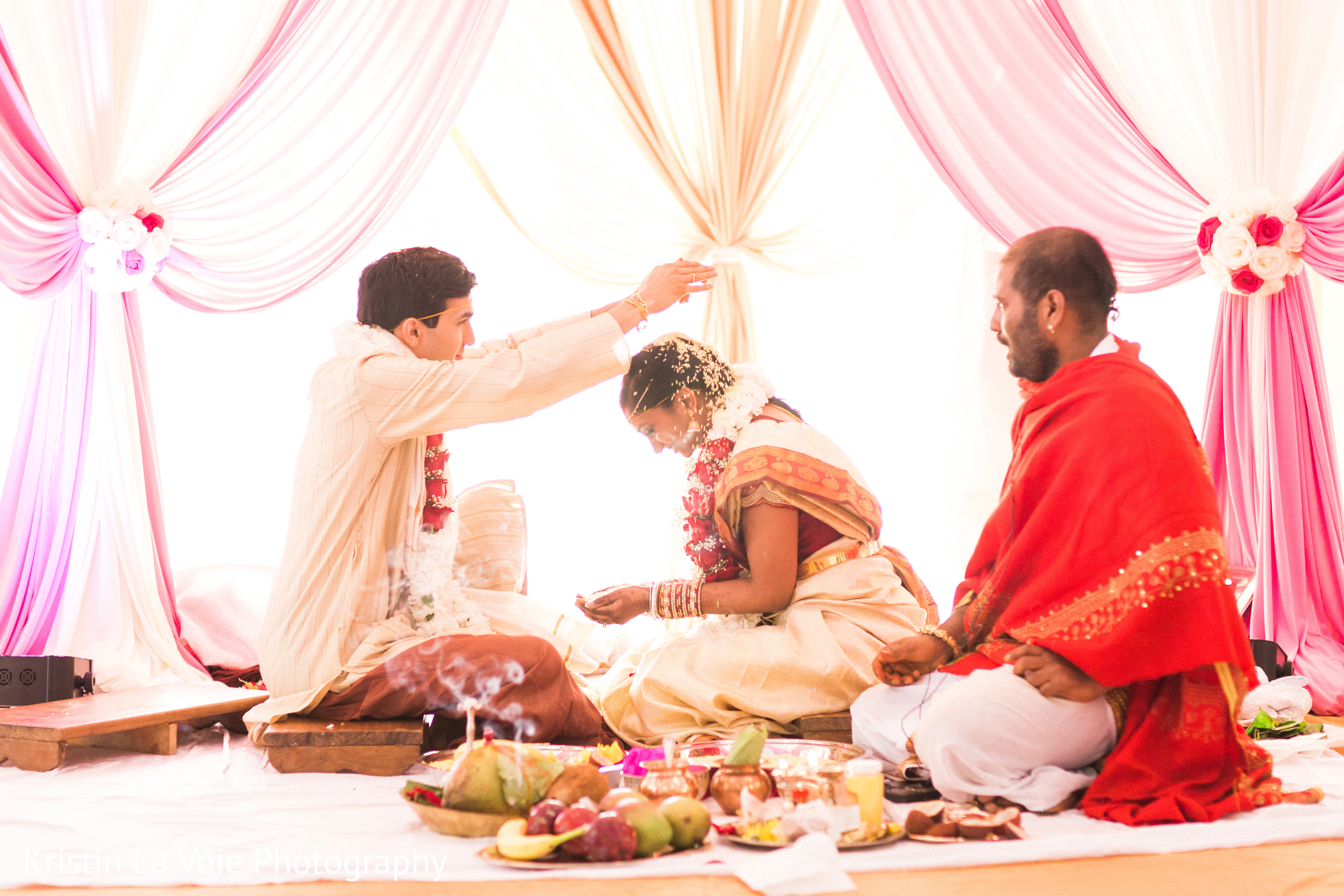 traditional indian hair styles ceremony in lombard il indian wedding by kristin la voie 7083