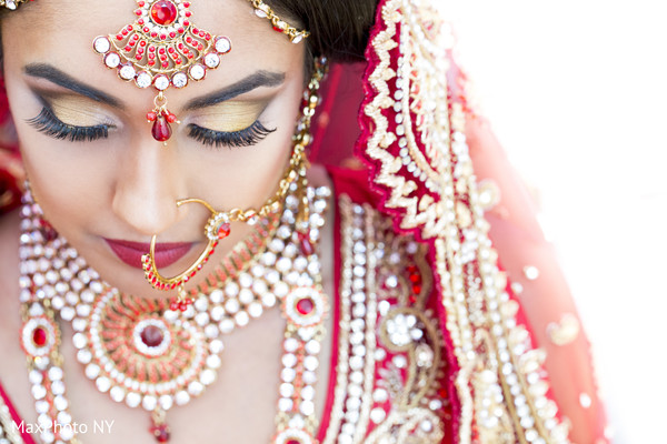 Getting Ready in Woodbury, NY Indian Fusion Wedding by MaxPhoto NY