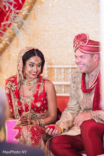 Ceremony in Woodbury, NY Indian Fusion Wedding by MaxPhoto NY