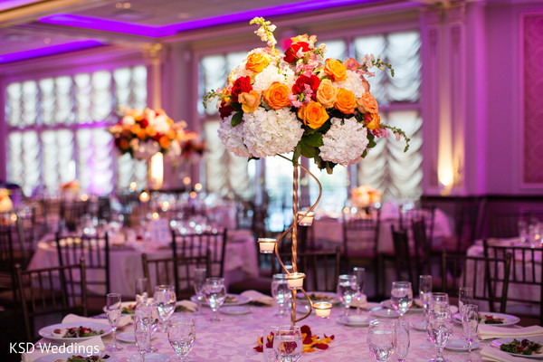 indian wedding reception floral and decor,floral centerpiece