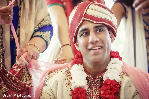 Ceremony in Houston, TX Indian Wedding by Oryan Photography