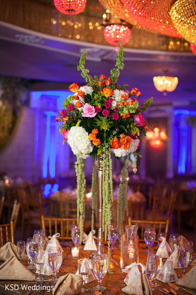 indian wedding reception,indian wedding reception floral and decor,floral centerpiece