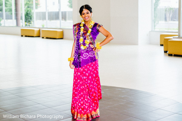Bridal Portrait in Dallas, TX Indian Wedding by William Bichara Photography