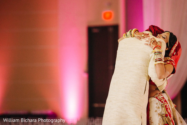 First Look in Dallas, TX Indian Wedding by William Bichara Photography