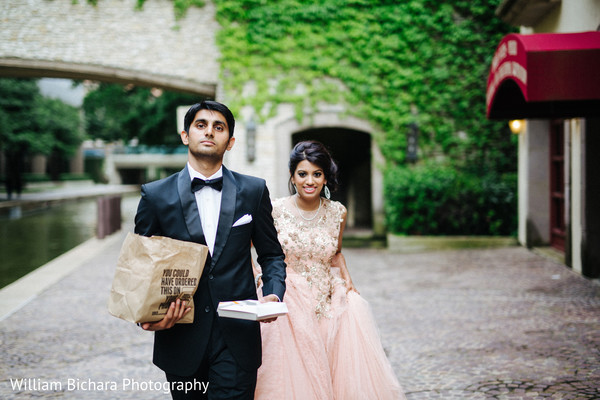 Reception Portrait in Dallas, TX Indian Wedding by William Bichara Photography