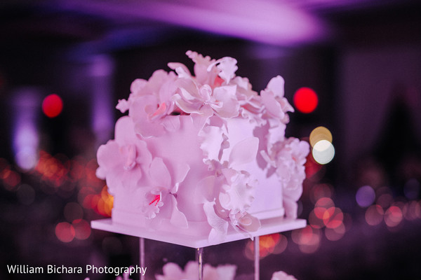 Cake Detail in Dallas, TX Indian Wedding by William Bichara Photography