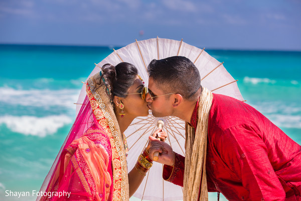 Ceremony in Cancun, Mexico Destination Indian Wedding by Shayan Fotography