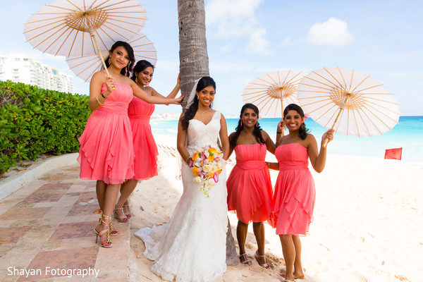 outdoor indian wedding portraits,indian bridesmaids,indian wedding dress