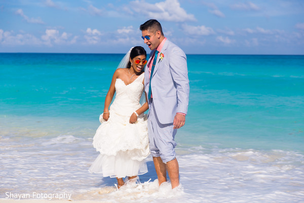 Portraits in Cancun, Mexico Destination Indian Wedding by Shayan Fotography