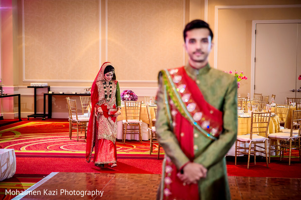 First Look in Linthicum Heights, MD South Asian Wedding by Mohaimen Kazi Photography