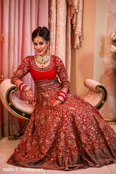 Bridal Portrait in Long Island, NY Sikh Wedding by Nadia D. Photography