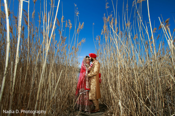First Look in Long Island, NY Sikh Wedding by Nadia D. Photography