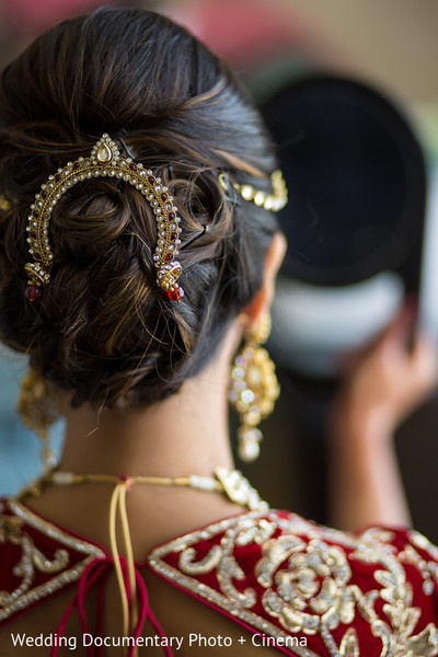 indian bride getting ready,indian bridal hair accessories,indian bridal accessories