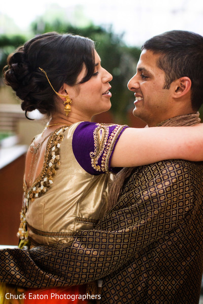 First Look in Greenville, SC Indian Wedding by Chuck Eaton Photographers