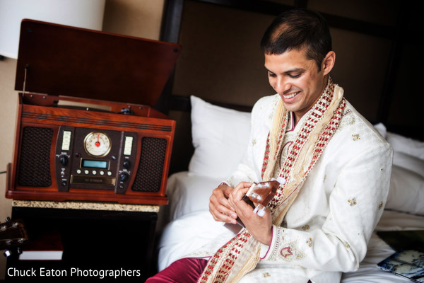 Groom Portrait in Greenville, SC Indian Wedding by Chuck Eaton Photographers