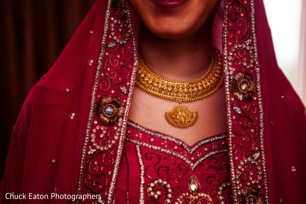 Bridal Jewelry in Greenville, SC Indian Wedding by Chuck Eaton Photographers