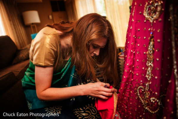 Getting Ready in Greenville, SC Indian Wedding by Chuck Eaton Photographers