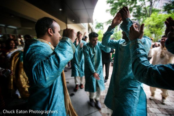 Baraat in Greenville, SC Indian Wedding by Chuck Eaton Photographers