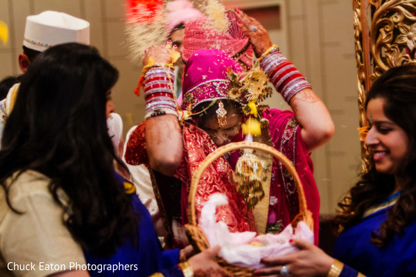 Ceremony in Greenville, SC Indian Wedding by Chuck Eaton Photographers