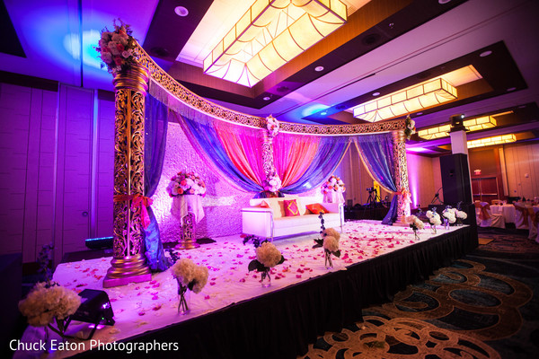 Sweetheart Stage in Greenville, SC Indian Wedding by Chuck Eaton Photographers