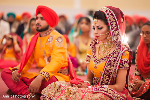 Sikh Ceremony in Carteret, NJ Sikh Wedding by Amrit Photography