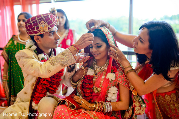 Ceremony in Mercer Island, WA Indian Wedding by Jerome Tso Photography