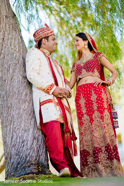 First Look in Phoenix, AZ Indian Wedding by Sameer Soorma Studios