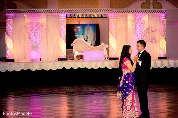 portraits,first dance,reception fashion,sari,sweetheart stage