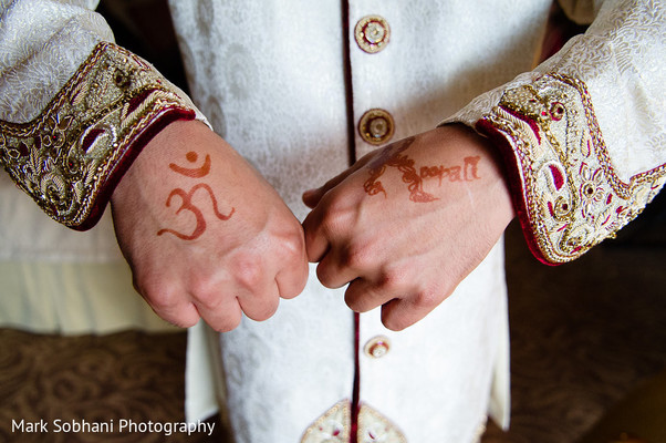 Groom Portrait in San Antonio, TX Indian Fusion Wedding by Mark Sobhani Photography