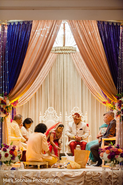 Ceremony in San Antonio, TX Indian Fusion Wedding by Mark Sobhani Photography