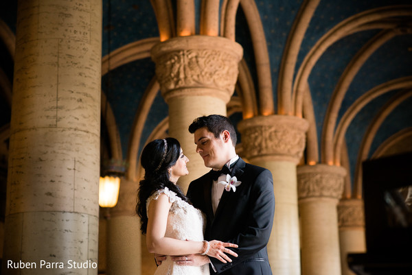 Wedding Portrait in Coral Gables, FL Indian Fusion Wedding by Ruben Parra Studio