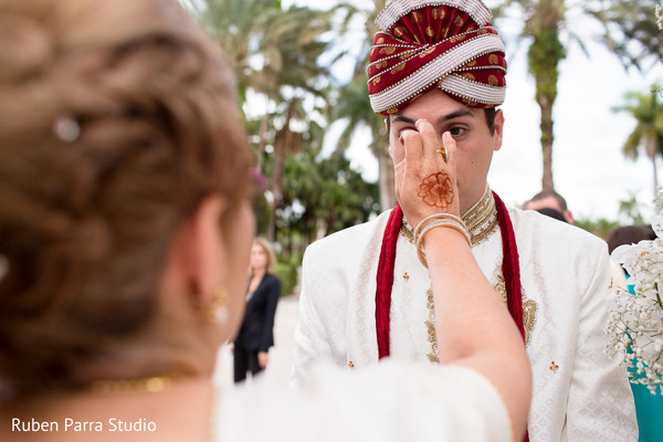 Ceremony in Coral Gables, FL Indian Fusion Wedding by Ruben Parra Studio