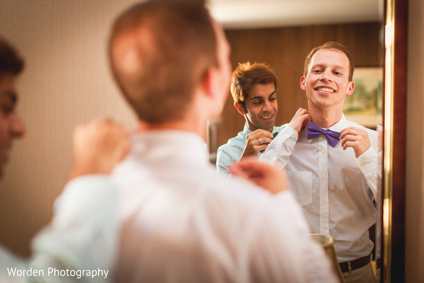 Getting Ready in Claremont, CA Indian Fusion Wedding by Worden Photography