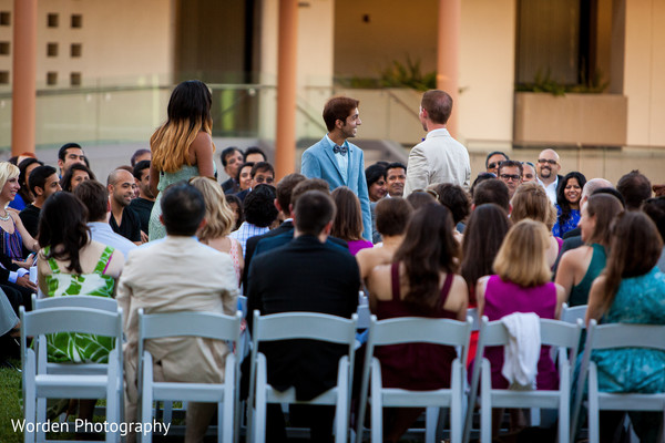 Ceremony in Claremont, CA Indian Fusion Wedding by Worden Photography