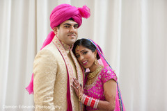 indian wedding portraits,indian bridal hair and makeup,indian wedding first look portraits