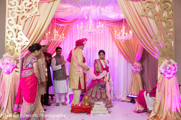 Ceremony in Princeton, NJ Indian Wedding by Damion Edwards Photography