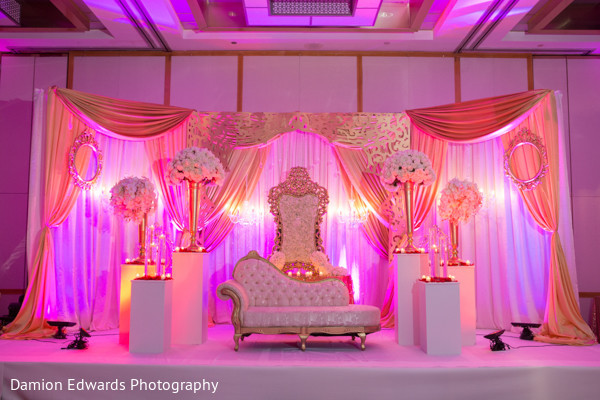 indian wedding reception,indian wedding reception floral and decor,floral arrangements,sweetheart stage