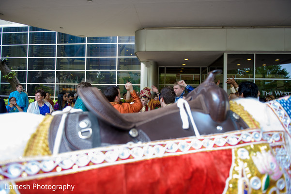 Baraat in Dallas, TX Indian Fusion Wedding by Lomesh Photography