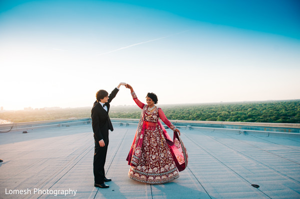 Reception Portrait in Dallas, TX Indian Fusion Wedding by Lomesh Photography