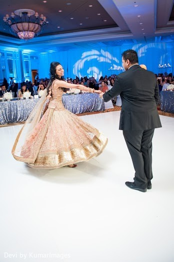 indian bride and groom first dance,indian fusion wedding reception