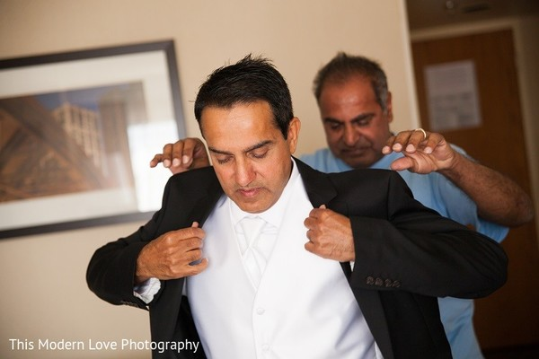 Groom Getting Ready in Atlanta, GA South Asian Wedding by This Modern Love Photography
