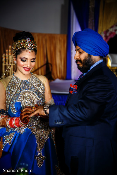 Reception in Edmonton, AB , Canada Sikh Wedding by Shandro Photo