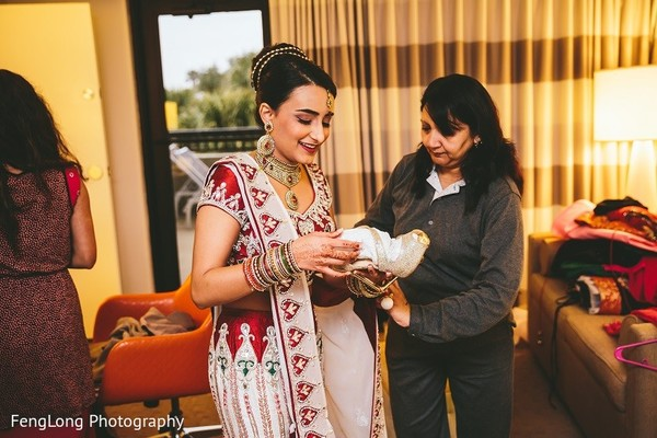 Getting Ready in Hilton Head Island, SC Indian Wedding by FengLong Photography