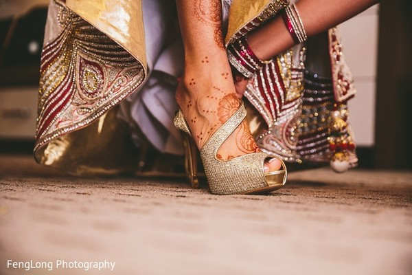 Shoes & Mehndi in Hilton Head Island, SC Indian Wedding by FengLong Photography