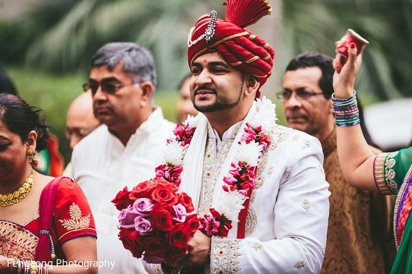 Baraat in Hilton Head Island, SC Indian Wedding by FengLong Photography