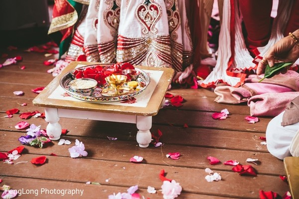 Ceremony in Hilton Head Island, SC Indian Wedding by FengLong Photography