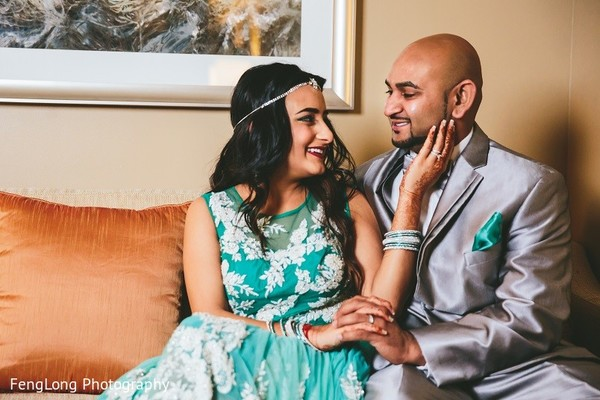Reception Portrait in Hilton Head Island, SC Indian Wedding by FengLong Photography