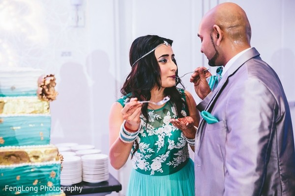 Reception in Hilton Head Island, SC Indian Wedding by FengLong Photography